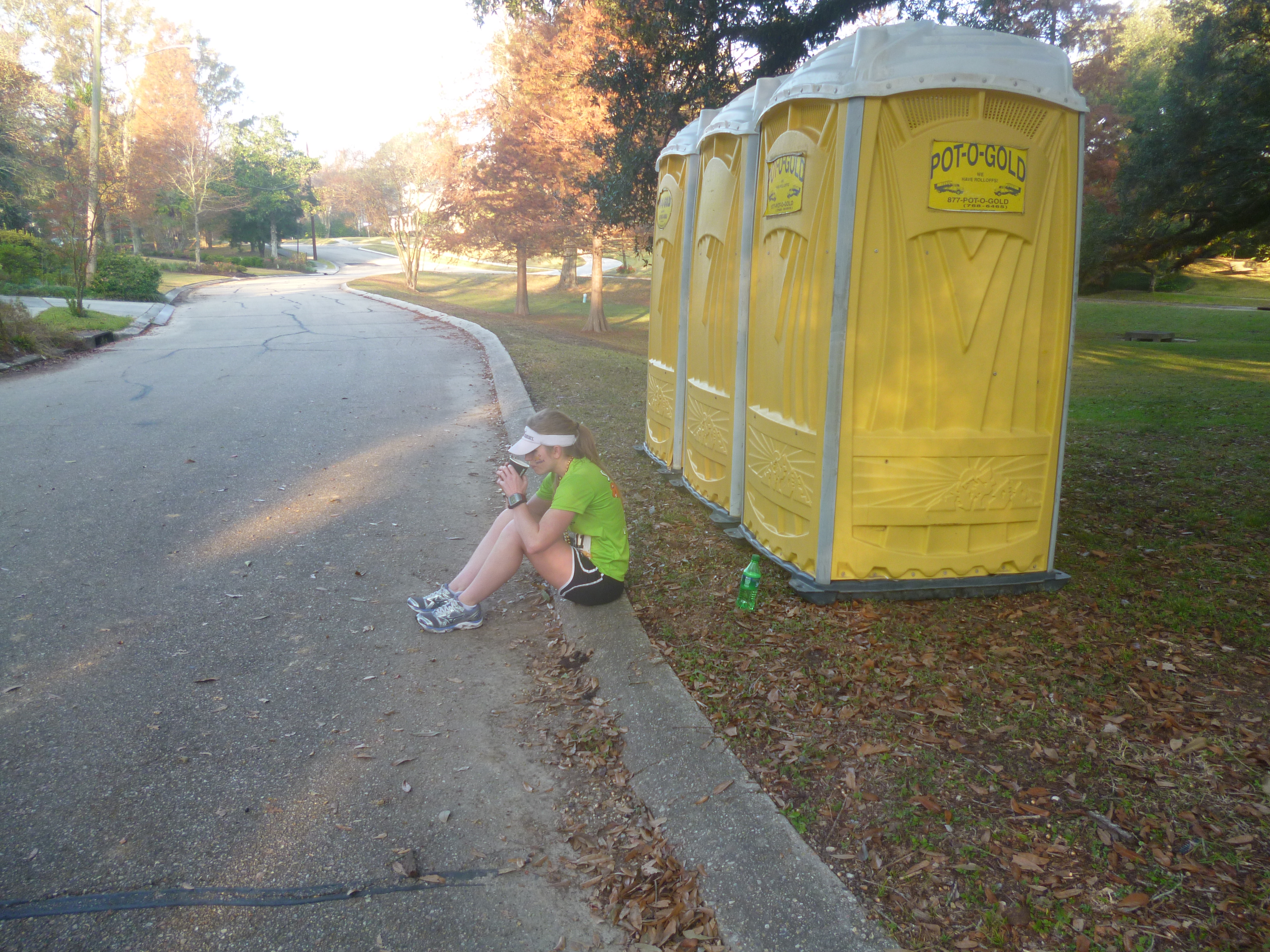 On the plus side, the porta potties were still clean.