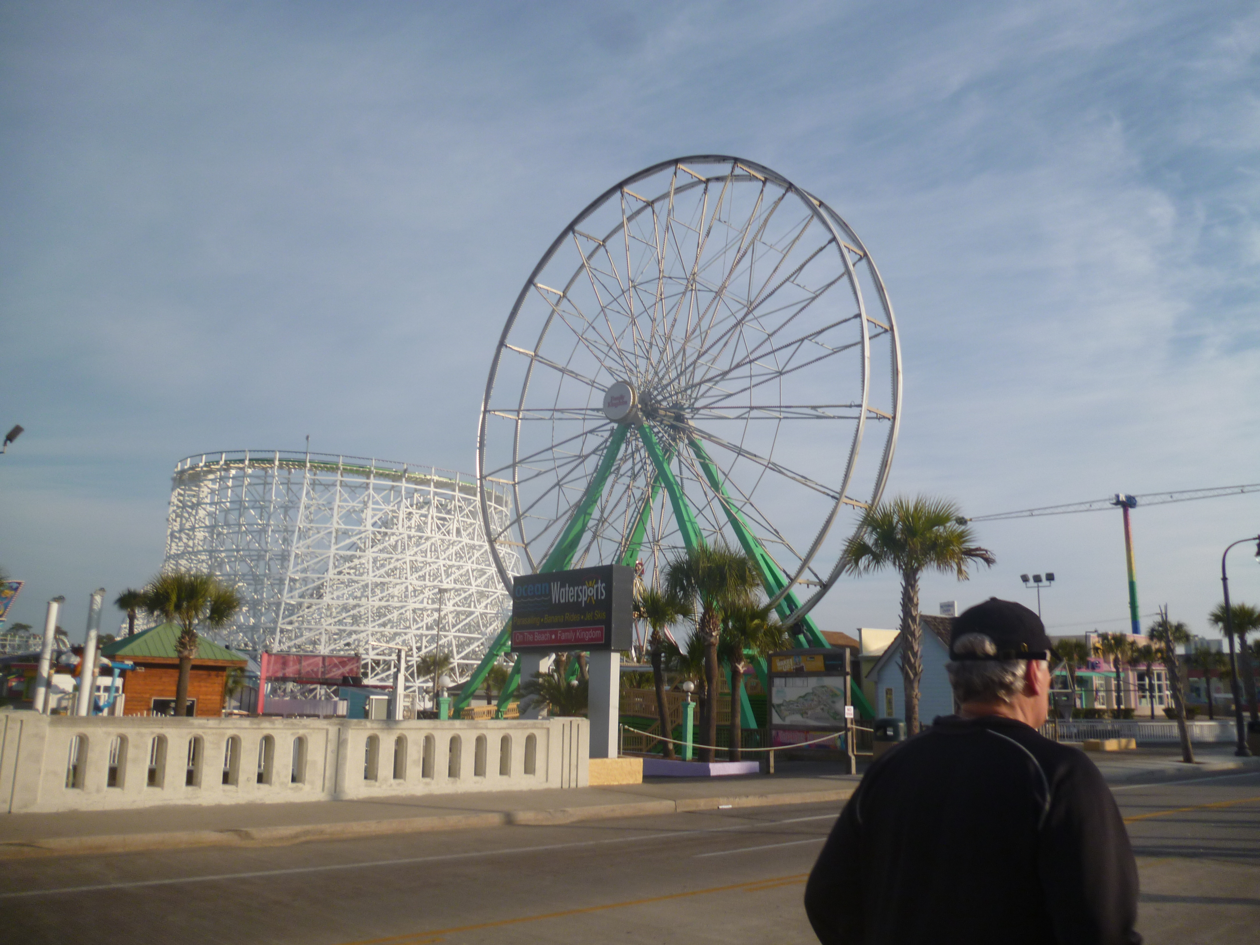 I lost count of the number of Ferris wheels we ran past, but I liked it.