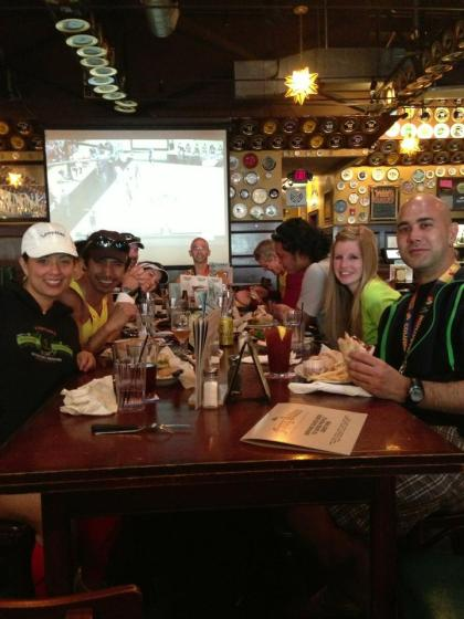 Post race Linner (lunch/dinner, see what I did there?) at Flying Saucer