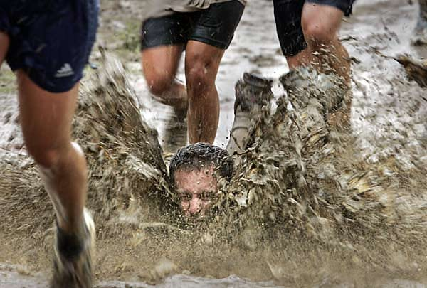 No need to list all the reasons I'll never do a mud run. This picture says it all.