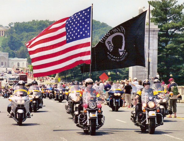 Just in case you needed further evidence to prove that I'm oblivious to the world, Rolling Thunder, Inc. is apparently also like a HUGE motorcycle group that rides across the country to bring attention to the plight of veterans and POWs. So now you know.
